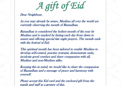 Eid Message for Neighbours