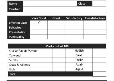 Annual Madrasah Report Template