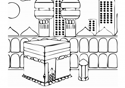 Hajj Colouring Sheet