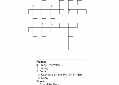 Hajj Crossword