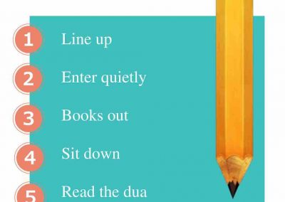 5 to Start Routine Poster