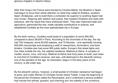 Islamic History Islam in Spain