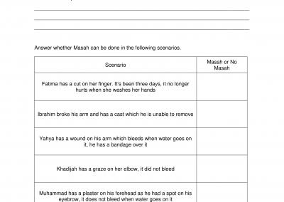 Masah Worksheet