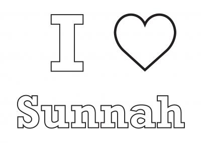 I Love Sunnah – Colouring Sheet
