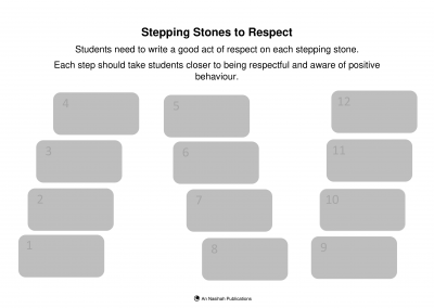 Respect Stepping Stones Activity