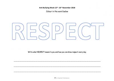Respect Colouring Sheet