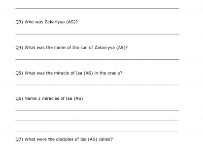 Isa (AS) Questions