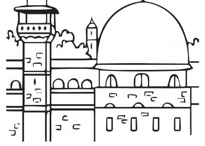 Masjid Al-Aqsa Colouring Sheet