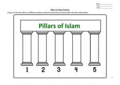 Pillars of Islam Activity