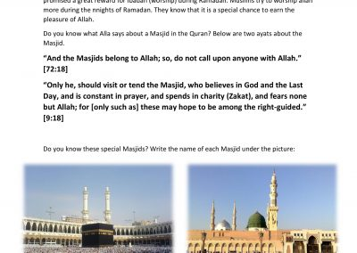 Ramadhan Activity Book
