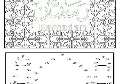 Ramadhan Arbeitsblatt – German