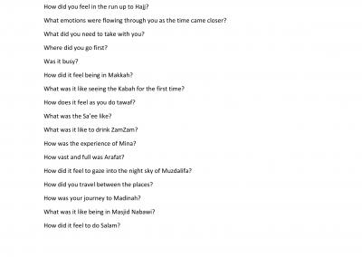 Hajj An Interview