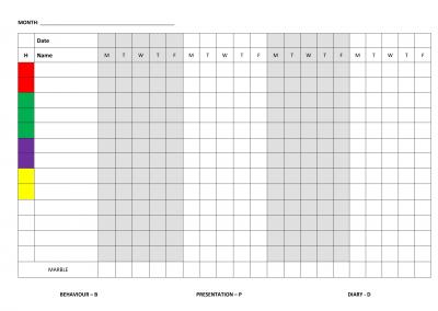 Class Points Sheet