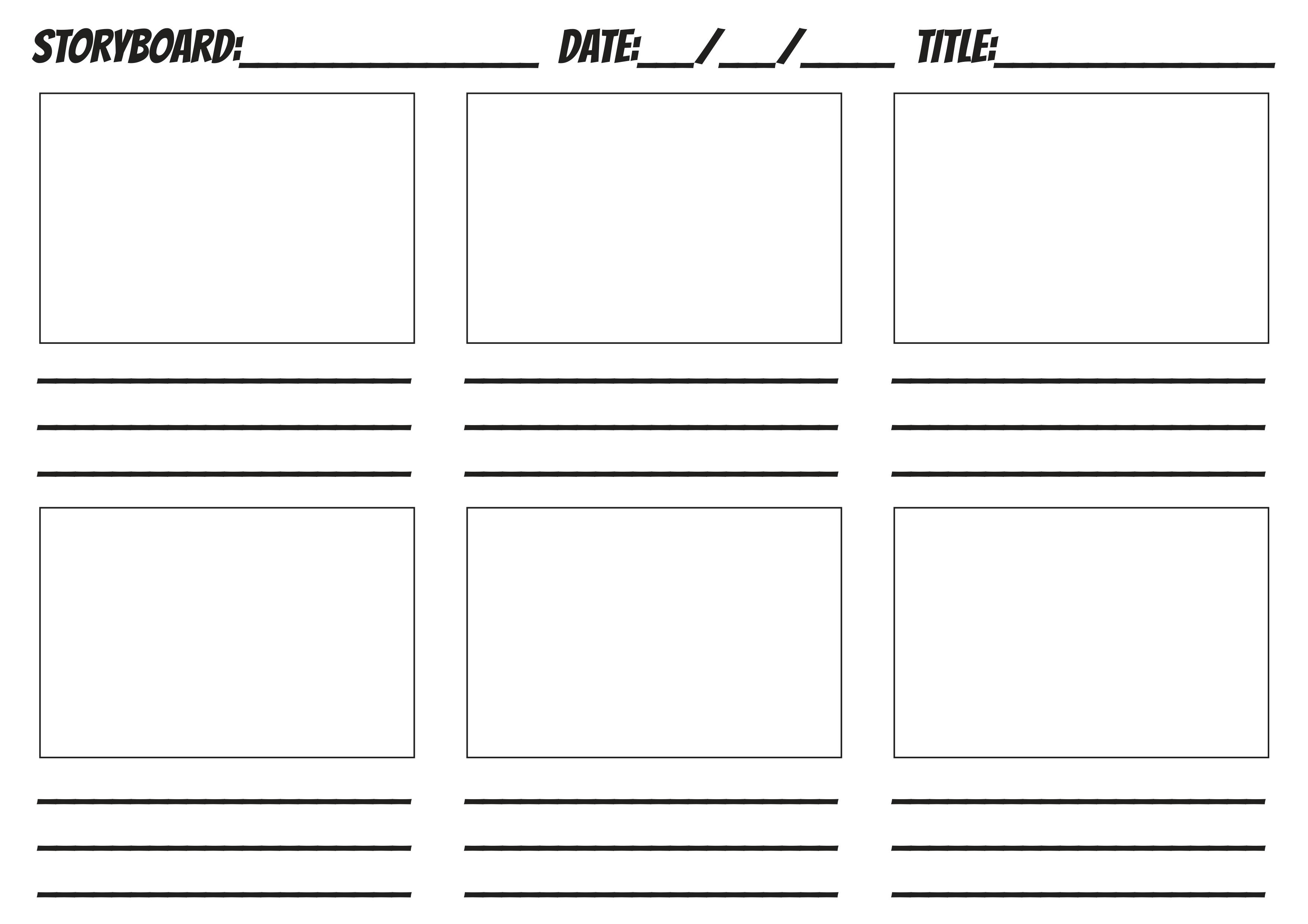 Free Storyboard Templates Story Board Creator