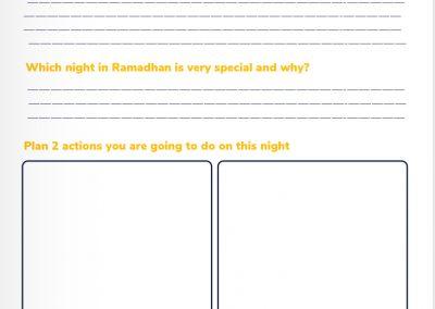 Ramadhan worksheet