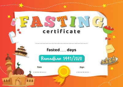 Fasting Certificate