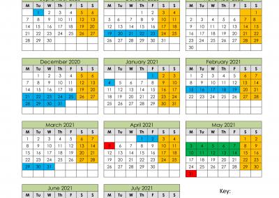 Madrasah Term Dates 2020/2021