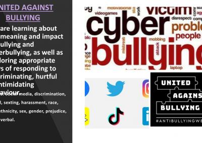 Cyber bullying- United against bullying