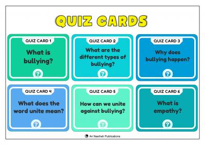 Anti Bullying 2020 – Quiz Cards