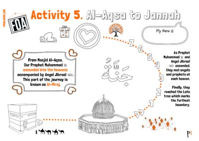 Aqsa Week Kids – Al-Isra Wal Miraj (Activity 5)