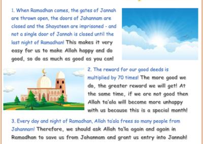 Ramadhan Booklet