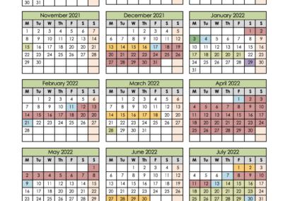 Madrasah Term Dates 2021/22